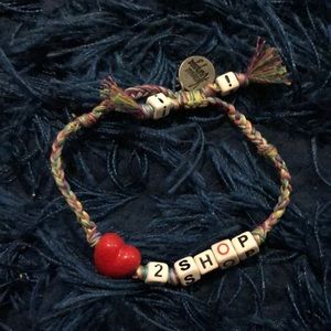 Vanessa Arizaga love 2 shop bracelet